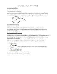 Lezione n. 1 (a cura di Irene Tibidò) - Dipartimento di Statistica