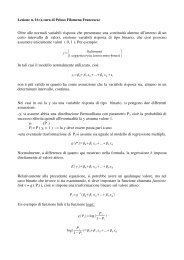 lezione 16 - Dipartimento di Statistica