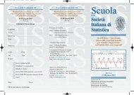 Scuola Scuola - Dipartimento di Statistica