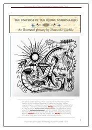 The Universe Of The Ojibwe Anishinaabeg, an illustrated glossary by Zhaawano Giizhik*