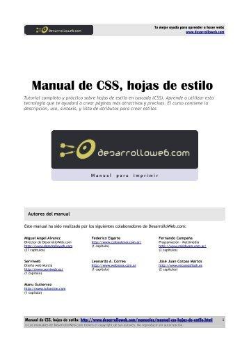 Manual de CSS, hojas de estilo