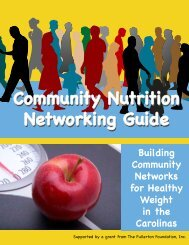 Community Nutrition Networking Guide - Division of Community Health