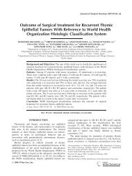 Outcome of surgical treatment for recurrent thymic epithelial tumors ...