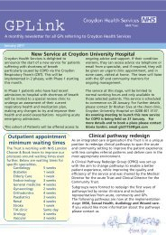 GP Newsletter Jan 2011 draft 4 - Croydon Health Services NHS Trust