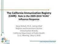 Steve Nickell - California Immunization Coalition