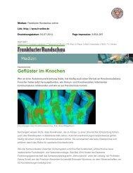 Frankfurter Rundschau online - Immunobone