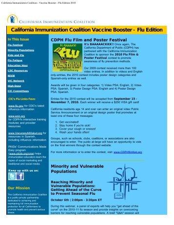 California Immunization Coalition - Vaccine Booster - Flu Edition 2010