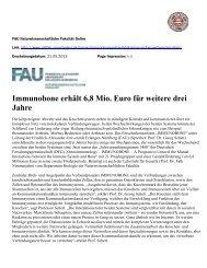FAU Naturwissenschaftliche Fakultät Online - Immunobone