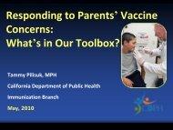 Tammy Pilisuk - California Immunization Coalition