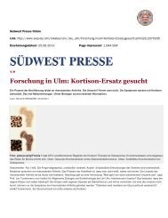 Südwest Presse Online - Immunobone