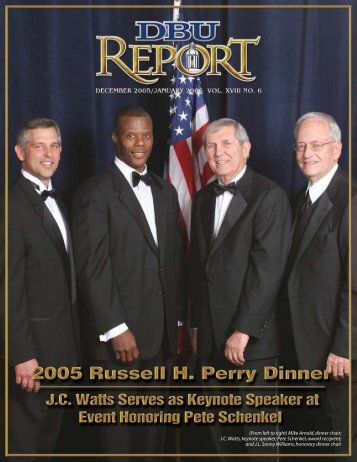 (From left to right) Mike Arnold, dinner chair - Dallas Baptist University