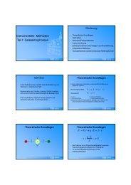 Elektrophoretische Grundlagen - TCI @ Uni-Hannover.de