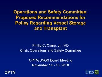 OPs and Safety BOD Action Item - Transplant Pro
