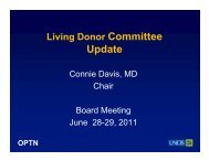 Living Donor Committee Report - Transplant Pro