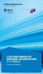 8. deutscher kongress für grosshandel und kooperationen jetzt ...