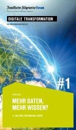 Mehr dAten, Mehr Wissen? - Frankfurter Allgemeine Forum