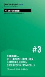 Sharing – Teilen STaTT BeSiTzen: GUtMeNscheNtUM oder ...