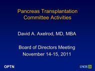 Pancreas Committee: Upcoming Activities - Transplant Pro