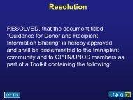 Task Force Resolution - Transplant Pro