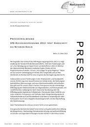 Diese Pressemitteilung als pdf - Netzwerk Berlin