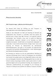 Presseerklärung zum Download - Netzwerk Berlin
