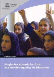 Single-Sex Schools for Girls and Gender ... - UNESCO Bangkok