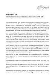 Notizen für ein sozialdemokratisches ... - Netzwerk Berlin