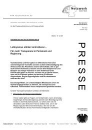 Pressemitteilung zum Download - Netzwerk Berlin