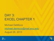 DAY 3: EXCEL CHAPTER 1 - Computer Science 101