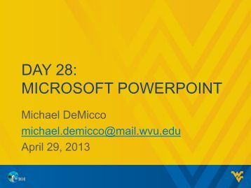 DAY 28: MICROSOFT POWERPOINT