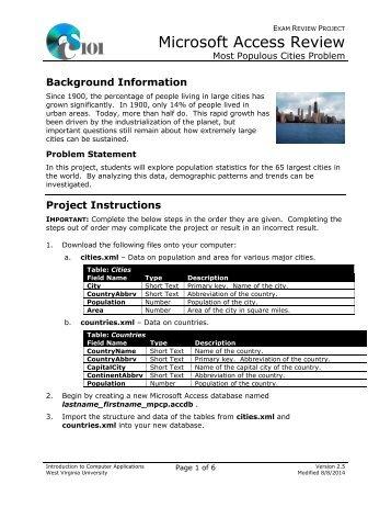Instructions (PDF) - Computer Science 101 - West Virginia University