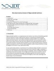 Mass Spectrometry Analysis of Oligonucleotide Syntheses