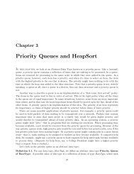 Chapter 3: Priority Queues and HeapSort