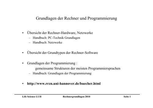 lesbar - TCI @ Uni-Hannover.de