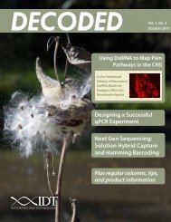 DECODED Vol 1 No 3 - Integrated DNA Technologies