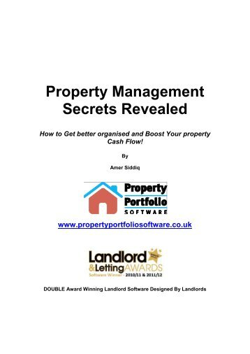 Property Management Secrets Revealed How to Get better ...