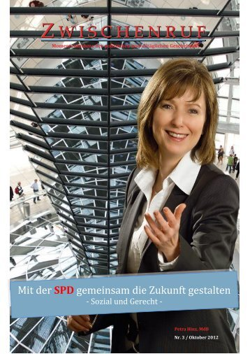 Zwischenruf Ausgabe 3 von Oktober 2012 - Petra Hinz