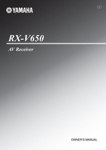 RX-V650 - Yamaha