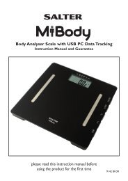 please read this instruction manual before using the ... - Salter MiBody
