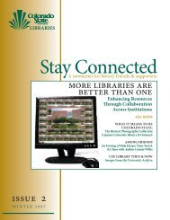 Winter 2007 - Libraries - Colorado State University