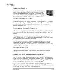 2003 NVRA Application Form - Election Defense Alliance