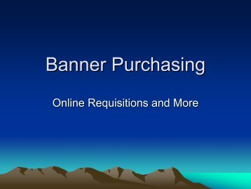 Banner Purchasing