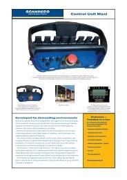 Download the Scanreco Control Unit Maxi Brochure - PM Industries
