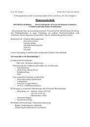 Bioprozesstechnik - TCI @ Uni-Hannover.de