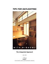 tips for daylighting - Windows and Daylighting Group - Lawrence ...