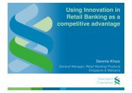 Using Innovation in Retail Banking as a competitive advantage - SMU