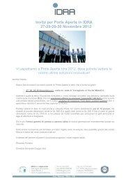 Invito per Porte Aperte in IDRA 27-28-29-30 Novembre ... - Idra Group