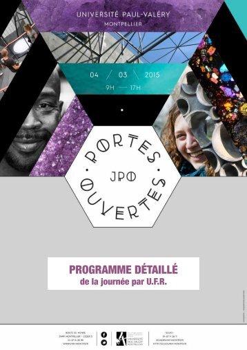 Programme des COURS OUVERTS 2015