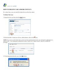 HOW TO DELETE CASE AND/OR CONTACT: - Cerenade