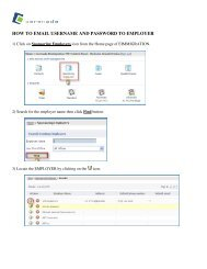 how to email username and password to employer - Cerenade